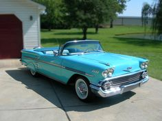 My dream car: A 1958 Chevy Impala--convertible, of course :) 1958 Chevy Impala, Chevrolet Impala, My Dream Car, Dream Cars, Vintage Cars, Antique Cars, Vintage Travel, Retro Vintage, Car Cost