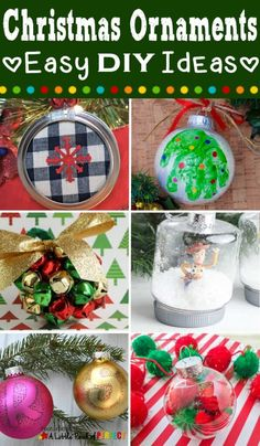A Little Pinch of Perfect shares DIY ideas for Christmas ornaments! So many ideas to choose from. Grab these unique ornament ideas for your Christmas tree! #christmas #ornaments #christmasornaments #diyornaments #crafts Christmas Countdown Crafts, Snowman Christmas Ornaments, Preschool Christmas, Christmas Crafts For Kids, Christmas Activities, Homemade Christmas, Christmas Tree, Craft Stick Crafts, Kids Crafts