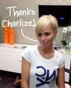 Kristin Chenoweth credits Charlize Theron and Jenna Elfman for inspiring her new pixie cut!
