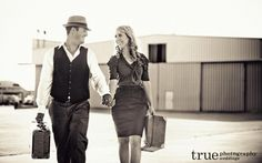 A Vintage Inspired Engagement Shoot at the San Diego International Airport