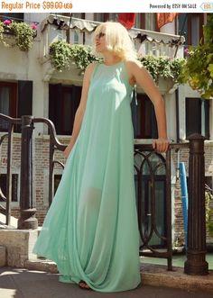 ON SALE 25% OFF Venetian Long Kaftan / Turquoise Venetian by Teyxo