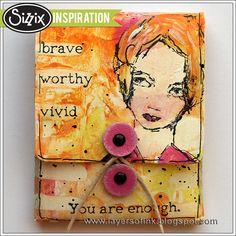 Sizzix Inspiration | Artsy Matchbook by Anna-Karin Evaldsson