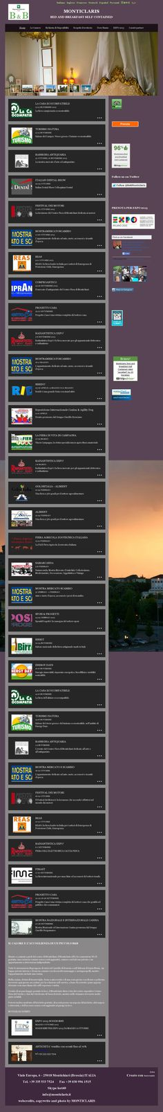 The website 'monticlaris.it' courtesy of @Pinstamatic (http://pinstamatic.com)
