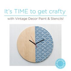 DIY Stenciled Wall Clock By Martha Stewart Crafts