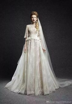 Discount 2016 Ersa Atelier Wedding Dresses Half Sleeves With Free Veil And Peplum Ivory Tulle Lace Romantic Bridal Gowns Custom Made Aline Wedding Dresses Vintage Lace Sleeve Anthropologie Wedding Dresses From Uniquebridalboutique, $141.81  Dhgate.Com #alineweddingdresses