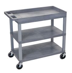 High Capacity 2 Flat and 1 Tub Shelf Utility Cart