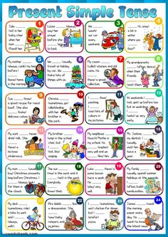 Present Simple worksheet. You can do the exercises online or download the worksheet as pdf.