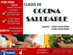 IMSS invita a inscribirse a clases de cocina saludable en el centro de seguridad social | El Puntero