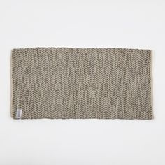 buy Broste Rug 'Zigzag' Leather / Cotton in Light Grey online from goodhood, broste rugs online, broste rugs available in england, broste rugs available at goodhood store
