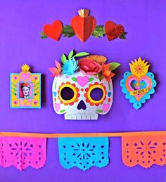 Day Of The Dead Halloween Inspiration - Jest Cafe Crafts For Teens To Make, Crafts To Sell, Easy Crafts, Diy And Crafts, Arts And Crafts, Paper Crafts, Sell Diy, Kids Diy, Decor Crafts