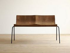 atelier | handsome two-seater wood bench