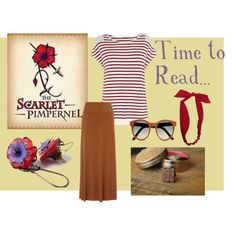 """""""Time to Read... The Scarlet Pimpernel"""" by ninaanddaki on Polyvore"""