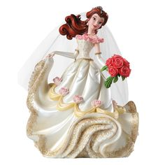 4045444 Belle Wedding Figurine- Disney Showcase Haute-Couture is a stunning collection inspired by Disney's reigning princesses and vampy villains embellished in haute couture #disney #collectable #wedding
