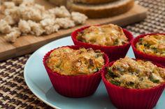 Muffins feitos com pão