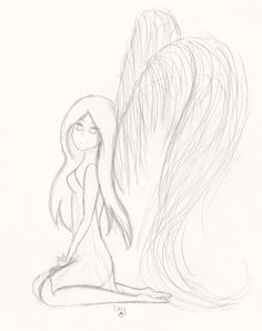angel / angel pencil drawing Source by Pencil Drawings Tumblr, Pencil Sketches Easy, Bff Drawings, Easy Drawings, Art Sketches, Angel Drawing Easy, Angel Sketch, Cute Disney Drawings, Scratch Art