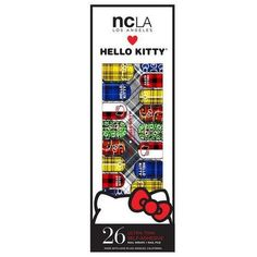Hello Kitty Nail Wrap Collection Hello Kitty brings you six new designs that each share the different trends she loves to sport! Hello Kitty strays from her conventional look to bring you her punk att