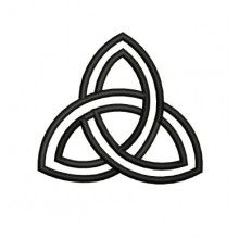 Trinity Symbol Embroidery Design Trinity Symbol Trinity Logo