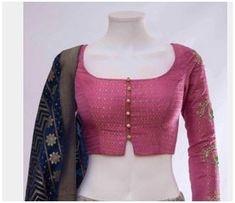 Simple Saree Blouse Designs, Blouse Designs High Neck, Cotton Saree Blouse Designs, Stylish Blouse Design, Fancy Blouse Designs, Saree Jacket Designs Latest, Shagun Blouse Designs, Latest Blouse Neck Designs, Indian Blouse Designs
