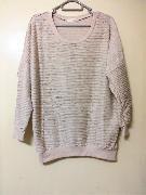 韓國宮庭復古高貴風杏色波浪紋顯瘦寬鬆長身上衣 Size:Free 100000%new 購至:韓國