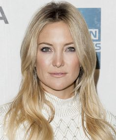 Kate Hudson - Casual Long Straight Hairstyle. Click on the image to try on this hairstyle and view styling steps!