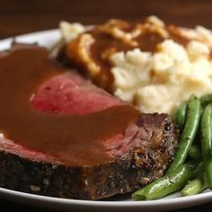 Prime Rib With Garlic Herb Butter Recipe by Tasty - Prime rib - Prime Ribs I Love Food, Good Food, Yummy Food, Tasty Videos, Food Videos, Recipe Videos, Cooking Videos, Rib Recipes, Cooking Recipes