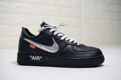 Advanced Off White x Nike Air Force 1 07 blackmetallic silver black AV5210 001 Mens Casual Shoes Sneakers