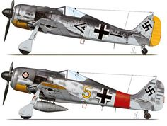 Focke-Wulf Fw 190 W. Ww2 Aircraft, Fighter Aircraft, Military Aircraft, Fighter Jets, Luftwaffe, Me262, Focke Wulf 190, Camouflage, Old Planes