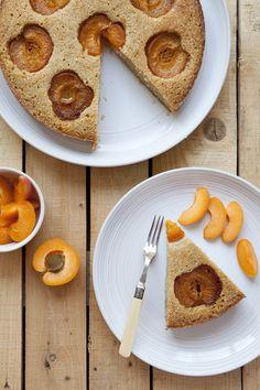 Gluten Free Almond and Buckwheat Apricot cake