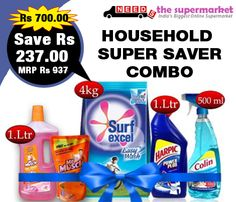 Get Rs 237 off on a purchase of household super saver combo #offer from #NeedsTheSupermarket