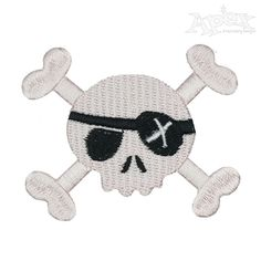Cute Skull Pack Embroidery Design