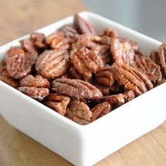 Maple Spice Roasted Pecans.