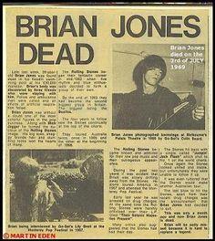 BRIAN JONES DEATH 1969