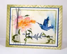 """Sweet Visit"" stamp by Penny Black - cottage life Heather Telford"