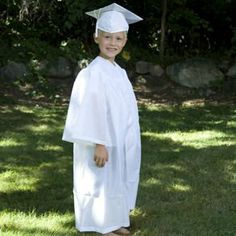 Child's White Graduation Cap & Gown Century Novelty. $17.95