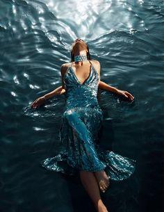 Teal Dress.