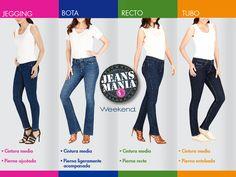 Conoce tu estilo favorito de jeans y ven por él a nuestra #Jeansmanía.