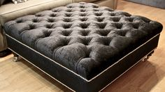ottoman, footstool, chesterfield, tufted, diamond buttoning, custom made, upholstery, australia, melbourne, sydney, perth, adelaide, brisbane
