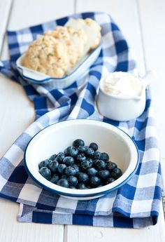 Desserts for Breakfast: Lemon-Oregano Shortcake with Blueberries and Lemon-scented Quark