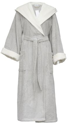 726f1f8e0f Yves Delorme Luxury Cream Stone Morlaix Dressing Gown for Women Cream  Stone
