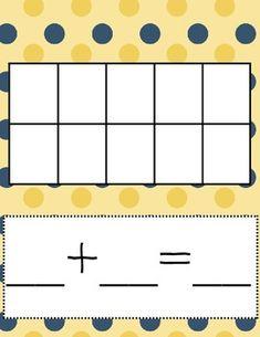 Preschool Math Games, Kindergarten Games, First Grade Activities, Preschool Activities, Ten Frames, 10 Frame, Addition Activities, Malu, Eureka Math