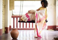 Cotton Sarees - Off White With Yellow And Pink Border By Suta - PC - 15730 - Main