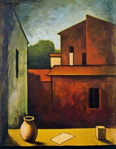 The Red House, 1927 - Carlo Carra - WikiArt.org