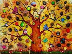 Tree Of Life - Dawn by artist Kerry Darlington. Just waiting to be hung up now!!!
