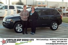 Thank you for a friendly non pressured experience purchasing my Jeep Compass. I love it! - Carol Rabb, Monday, December 16, 2013 http://www.dodgecityofmckinney.net/?utm_source=Flickr&utm_medium=DMaxxPhoto&utm_campaign=DeliveryMaxx