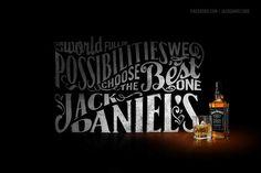 Jack Daniels Fan page by Abraham García Sánchez, via Behance