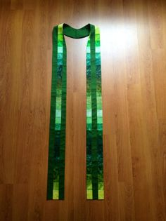 Green Clergy Stole for Ordinary Time. Love the vibrant greens in this one.