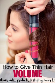 How to give thin hair volume - all the tips, tricks, hair cut ideas and products recommendations in one place! How to give thin hair volume - all the tips, tricks, hair cut ideas and products recommendations in one place! Medium Hair Styles, Curly Hair Styles, Natural Hair Styles, Styles For Thin Hair, Medium Fine Hair, Curling Wand Tips, Curling Fine Hair, Thin Hair Cuts, Hair Cuts For Volume