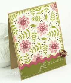 Just Because card by Nichole Heady for Papertrey Ink (January 2012).