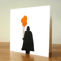 Darth Vader-Linolschnitt quadratische von BlueHartPress auf Etsy