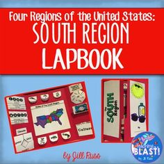 South Region of the United States lapbook or interactive notebook pieces South Region of the United States Lapbook includes ten foldable pieces that students can either use to create a lapbook or use in an interactive notebook. The lapbook and notebook pieces are great to use as a formative assessment as you progress through your study of the South Region.The foldable pieces will help your students record their learning about the land, water, climate, landmarks, products and natural…